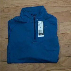 Adidas men's half zip Climalite Running Shirt New!